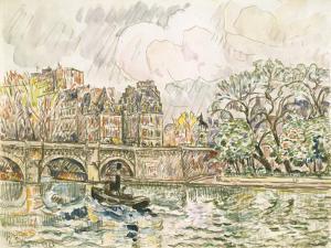 Paris Le Place Dauphine by Paul Signac