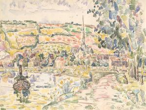 Petit Andely-The River Bank by Paul Signac