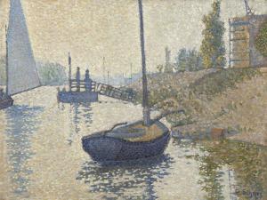 Ponton de la Félicité at Asnières (Opus no. 143), 1886 by Paul Signac