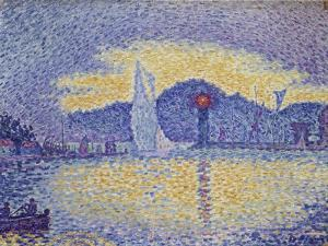 Quay Wall with Lighthouse, 1898 by Paul Signac