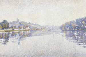 Riverbank, the Seine at Herblay by Paul Signac