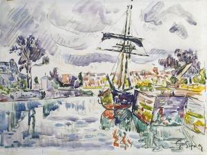 Sailboat at a Pier, 1920S by Paul Signac