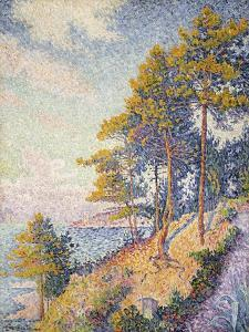 Saint Tropez, der Küstenweg (Saint Tropez, le Sentier Côtier). 1902 by Paul Signac