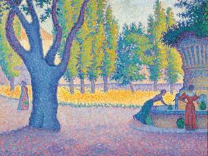 Saint-Tropez, Fontaine Des Lices, 1895 by Paul Signac