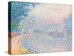 Samois, La Berge, matin, 1901 by Paul Signac