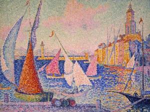 Signac: St. Tropez Harbor by Paul Signac