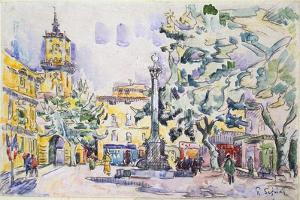 Square of the Hotel De Ville in Aix-En-Provence, Early 20th Century by Paul Signac