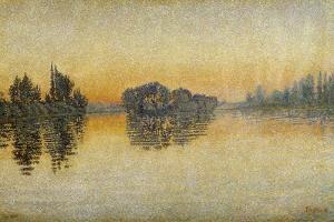 Sunset, Herblay, 1889 by Paul Signac