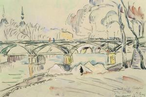 The Pont des Arts, 1924 by Paul Signac
