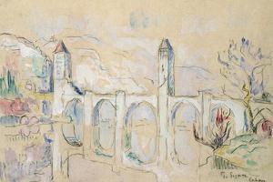 The Pont Valentre, Cahors by Paul Signac