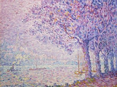 The Seine at St, Cloud, 1903 by Paul Signac