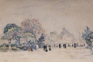 The Tuileries, Paris, 1910 by Paul Signac