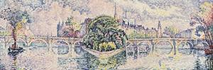 The Vert Galant Garden; Le Jardin Du Vert Galant, c.1928 by Paul Signac
