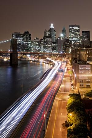 Brooklyn Bridge and Manhattan Skyline, New York City by Paul Souders