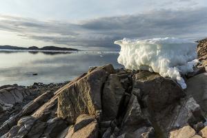 Canada, Nunavut, Iceberg Stranded by Low Tide Along Frozen Channel by Paul Souders