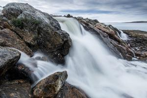 Canada, Nunavut, Territory, Hudson Bay, Blurred Image of Rushing River by Paul Souders