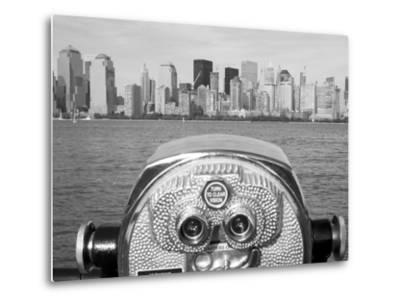 Coin Operated Binoculars Pointed at Manhattan Skyline, Hudson River, Jersey City, New Jersey, Usa by Paul Souders