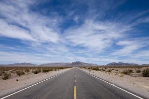 Desert Highway, Beatty, Nevada by Paul Souders