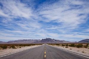 Desert Highway in Nevada by Paul Souders