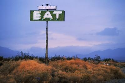 Diner Sign in Mojave Desert by Paul Souders