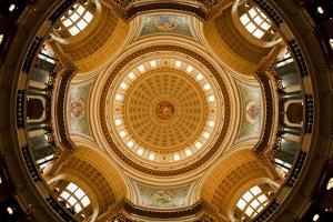 Dome in the Wisconsin State Capitol by Paul Souders