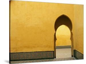Doorway at Mausoleum of Moulay Ismail by Paul Souders