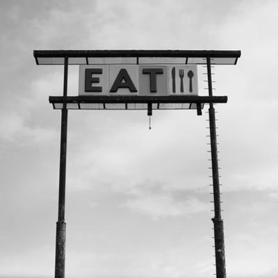 Eat Sign at Abandoned Truck Stop, Bliss, Idaho, Usa by Paul Souders