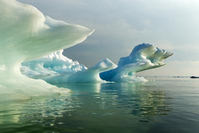 Melting Icebergs, Hudson Bay, Canada by Paul Souders