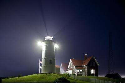 Nobska Light in Fog at Night