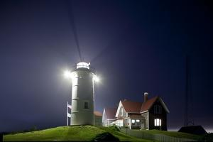 Nobska Light in Fog at Night by Paul Souders