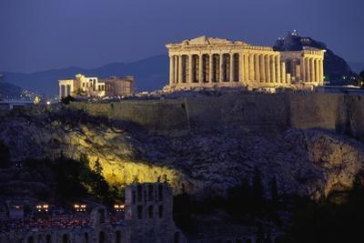 Parthenon Illuminated at Dusk by Paul Souders