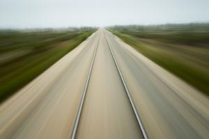 Railroad Tracks, Churchill, Manitoba, Canada by Paul Souders