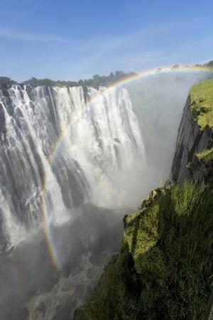 Rainbow above Victoria Falls, Mosi-Oa-Tunya National Park, Zambia