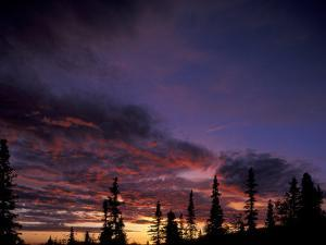 Solstice Sunset atop Midnight Dome, Dawson City, Yukon, Canada by Paul Souders