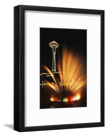 Space Needle Tower with Fountain, Seattle, Washington, USA