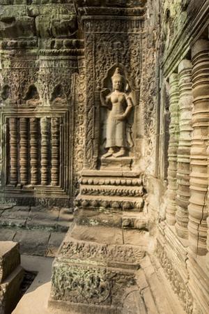 Stone Carvings of Apsara at Angkor Wat, Cambodia by Paul Souders
