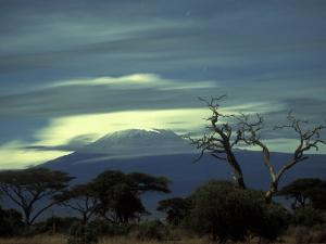 Summit of Mount Kilimanjaro, Amboseli National Park, Kenya by Paul Souders