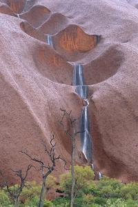 Water Cascading from Ayers Rock by Paul Souders