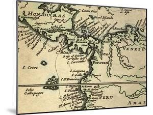 1698 W. Dampier Pirate Naturalist Map by Paul Stewart