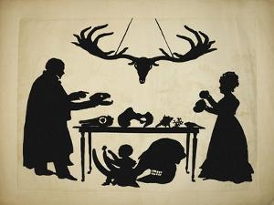 1829 Silhouette William & Frank Buckland by Paul Stewart
