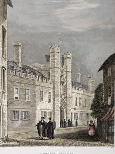 1838 Darwin's Christ College Cambridge by Paul Stewart