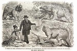 1855 Punch Dinosaurs Crystal Palace by Paul Stewart