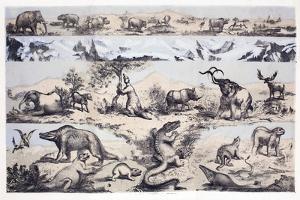 1860 Duncan's Prehistoric Epoch Panorama by Paul Stewart