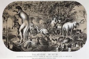 1869 Central Park Dinosaurs Hawkins Full by Paul Stewart