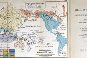 Ernst Haeckel Map Lemuria Human Origins by Paul Stewart