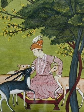 Indian Miniature, Animal Kindness Ahimsa