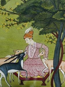 Indian Miniature, Animal Kindness Ahimsa by Paul Stewart