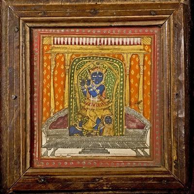 Krishna 19th Century Miniature Painting