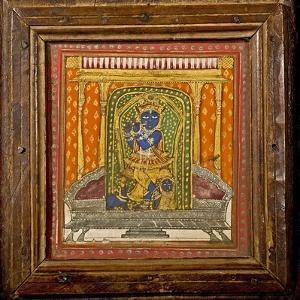 Krishna 19th Century Miniature Painting by Paul Stewart