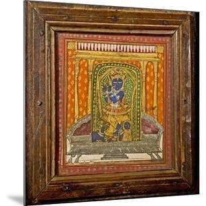 Krishna 19th Century Miniature Painting by Paul Stewart